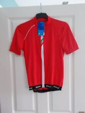New Santini Mens Red Zeit Lite Zipped Short Sleeve Jersey Size: Medium