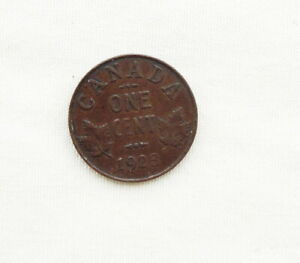 1923 Canadian George V Small Cent Rare Date
