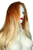 Remi Remy Full Lace Wig Silk Top PU Thin Skin Human Hair Indian Auburn Blonde