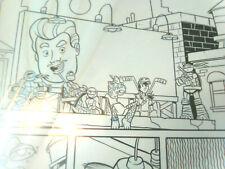 TMNT comic original art LOOK !! Casey Jones Napoleon Bonafrog 4 Turtles!