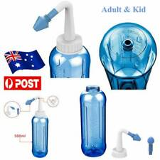 500ML Neti Pot Adults Rinse Allergies Sinus Nose Wash Nasal Pressure Clean AU