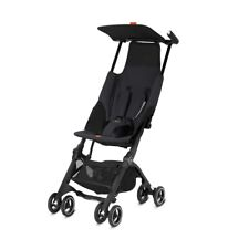 Pockit Go Plus Stroller Bundle w Reclining Seat Fabric + Infant Carrier in Black