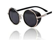 Fashion Steampunk Sunglasses Vintage Retro Round Lens 50s Glasses Cyber Goggles