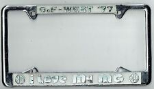 "SUPER RARE 1977 GoF-West  ""I LOVE MY MG"" Vintage California License Plate Frame"