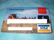 Credit Charge ATM Check Card Wells Fargo Bank 2002 South West Stage Coach Visa