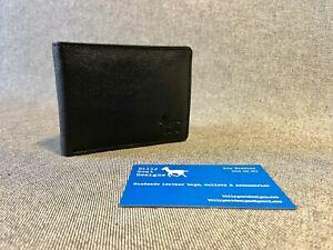 Leather Wallet Bifold Black Buffalo W2B Men Cash Card