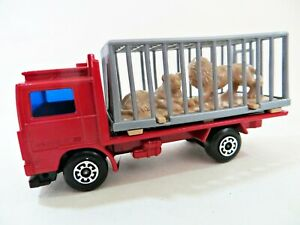 MATCHBOX SUPERFAST 35 'VOLVO ZOO/LION CAGE TRUCK/LORRY'. RED. ENGLAND. SUPERB.