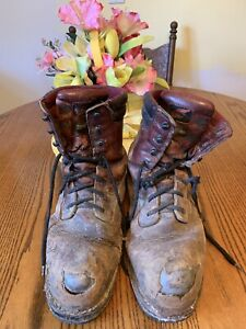 Flower Planter Work Boots Red Wings Decoration Crafts Movie Props Art Display
