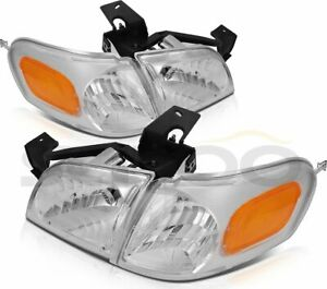 Fits Chevy Venture 1997-2005 Replacement Front Headlights Assembly Pair Headlamp