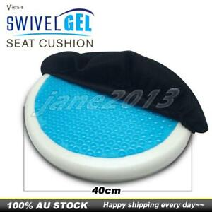 Memory foam cool gel infused Swivel Orbital Seat Cushion For Home Office Car AU