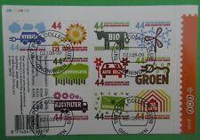 Nederland NVPH V2550 - 2559 Velletje Denk groen doe groen 2008 mooi gestempeld