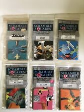 6 B Dazzle Scramble Squares Puzzle Dolphins Airplanes Owls Bats Kittens Tamales