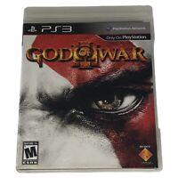 God of War III (Sony PlayStation 3, 2010) Complete w/Manual Works