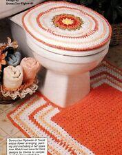 Springtime Flower Bath Set/Decor/Crochet Pattern Instructions Only