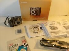 Canon PowerShot A590 IS 8.0MP Digital Camera - Gray 2 SD CARDS