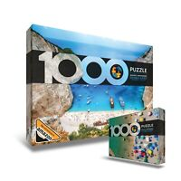 Double Sided Beach Jigsaw Puzzle 1000 Pieces - Navagio and Montenegro Landscape
