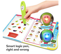 Learning Toys Interactive Book Toddler Educational  For 3+ Year Old Kids Gift