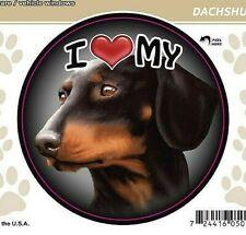 "I Love My Black Dachshund Dog 3"" Decal Vehicle Windows or Drinkware"