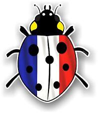Belle Coccinelle Ladybug design & FRENCH FRANCE Pays Drapeau Autocollant Voiture Décalque