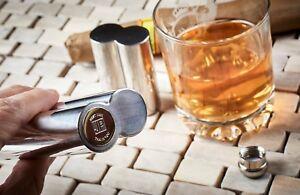 PERSONALISED Cigar Case Tube Holder Hip Flask Pocket With Gold Engraved Reveal