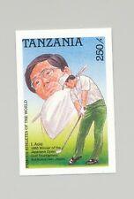 Tanzania #495 Golf, Sports 1v Imperf Proof
