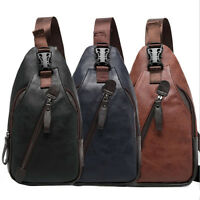 Hombres Bolso Bolsa de Hombro Viajar Deporte Mochila Bandolera Chest Bag Pack