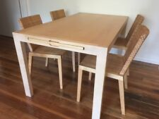 IKEA dining table and 4 chairs (birch)