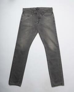 Tom Ford NWT Gray Japanese Selvedge Denim Straight Jeans 34 Made in USA