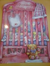 Its a girl pink cute newborn card