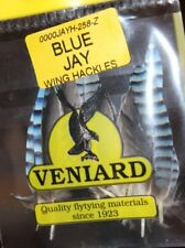 Fly Tying Veniard Blue Jay barred Wing Feathers