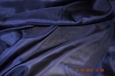pure silk habotai, 8 momme, 114 cm wide, navy blue