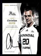 Christian Zeitz Autogrammkarte THW Kiel 2013-14 Original Signiert + A 141810