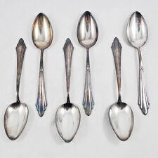 WMF 900 Fächer 6 Tafellöffel 90er Silber / Fächermuster, ab 1923 / Löffel  spoon