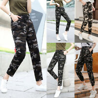 Women's Cargo Trousers Casual Pants Military Army Combat Camouflage Sports Jeans