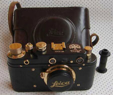 Leica III Anniversary 1923 copy black-gold in leather case (FED copy)