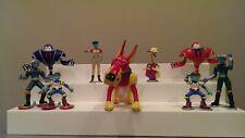 Reboot 8 PVC Figures & 1996 Mainframe City Frisket Articulated Figure - Irwin