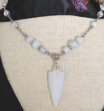 Opalite Arrowhead Pendant Necklace Opal 18-20 inches Handmade USA 1432