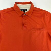 Banana Republic Fitted Polo Shirt Men's S Short Sleeve Dark Orange Pima Cotton