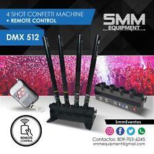 Confetti Machine 4 Head Shots Canon Launcher Remote Control Dmx512 Party Wedding
