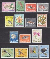 Singapore 1962 Fish Birds Orchids Definitives Pt Set to $5 Mint c£50 missing 15c