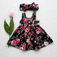 Baby Girl Floral Dress Party Wedding Pageant Formal Dresses Sundress Clothes