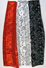 Wholesale Scarves 6 PCS Music Note G Clef Treble Clef Print Scarf Lot # 2006