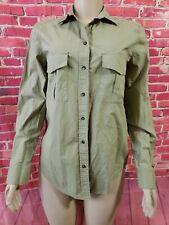 Massimo Dutti Button Down Womens Long Sleeve Green Shirt Top Size Small NWOT