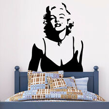Marilyn Monroe Potrait Mural Wall Sticker Removable Home Room Bedroom Decor