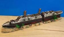 Titanic Barco Buque naufragio grande de 2 parte Adorno Acuario Peces Tanque Nuevo