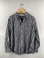 Nautica Men's Long Sleeved Button Up Casual Shirt Size XL Black Check