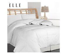 Blue Ridge Home Fashions Elle Microfiber Pinstripe Down Comforter F/Queen White