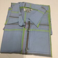 Ron Chereskin Green diamond geometric Men's Camp Shirt XL