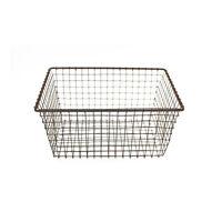 Vintage Metal Wire Bath Storage Basket Rustic Mesh Bin Country Kitchen Organizer