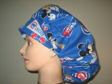 Surgical Scrub Hats/Caps Mlb Chicago Cubs with Mickey Mouse baseball